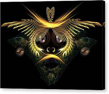The Mask Canvas Print by Ricky Kendall
