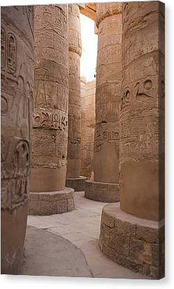 The Massive Columns In The Hypostyle Canvas Print by Taylor S. Kennedy