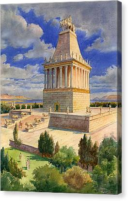 The Mausoleum At Halicarnassus Canvas Print by English School