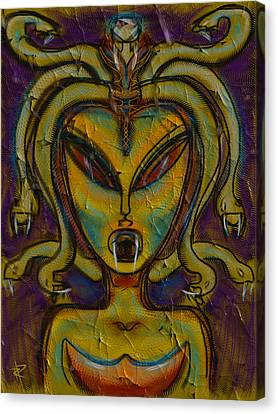 The Medusa Canvas Print by Russell Pierce