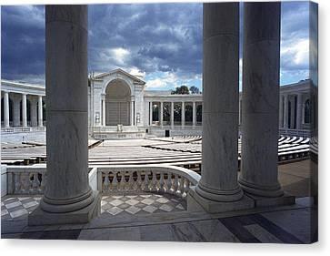 The Memorial Amphitheater At Arlington Canvas Print