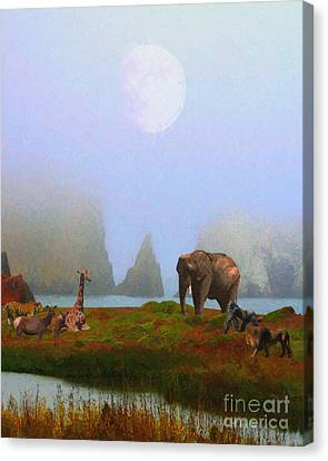 The Menagerie . Painterly Canvas Print by Wingsdomain Art and Photography