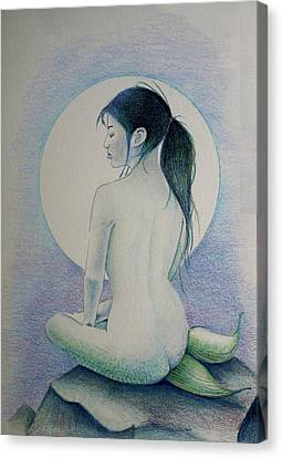 The Mermaid 1 Canvas Print by Tim Ernst