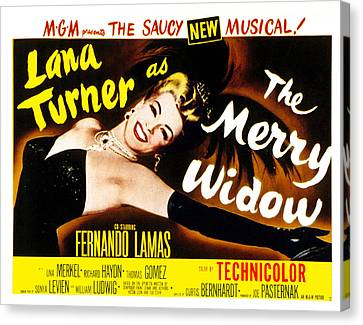 The Merry Widow, Lana Turner, 1952 Canvas Print