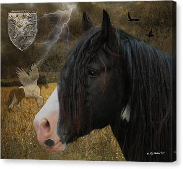 The Messenger Canvas Print by Terry Kirkland Cook