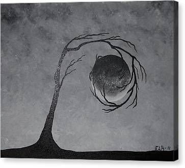 Canvas Print featuring the painting The Metal Element by Edwin Alverio