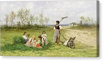 The Midday Rest Canvas Print by Franciszek Streitt