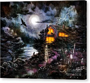 The Midnight Dreary Canvas Print by Laura Iverson