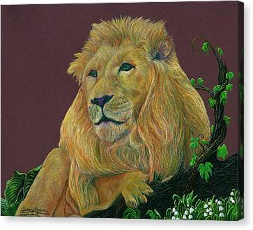The Mighty King Canvas Print by Jyvonne Inman