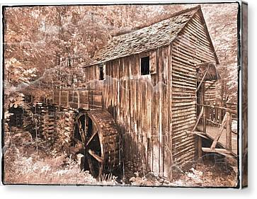 The Mill At Cade's Cove Canvas Print by Debra and Dave Vanderlaan
