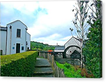 Canvas Print featuring the photograph The Mill by Charlie and Norma Brock