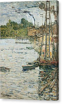 The Mill Pond Canvas Print by Childe Hassam