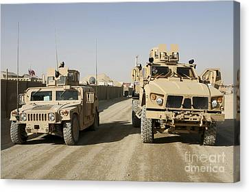 M1114 Canvas Print - The Mine Resistant Ambush Protected All by Stocktrek Images