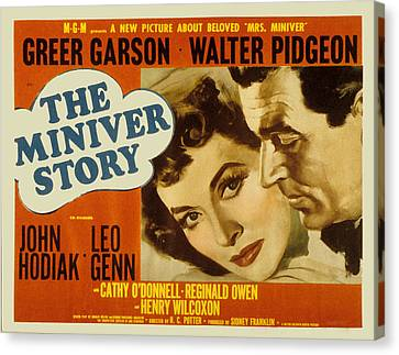 The Miniver Story, Greer Garson, Walter Canvas Print by Everett