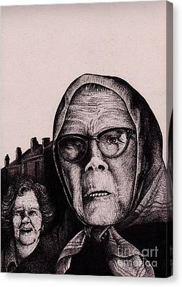 The Mirth Of Beryl And The Peril Of Meryl Canvas Print by Spencer Bower