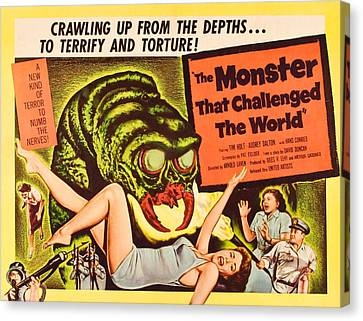 The Monster That Challenged The World Canvas Print by Everett