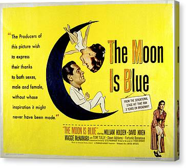 The Moon Is Blue, Poster Art, Maggie Canvas Print by Everett