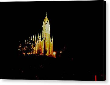 The Morman Temple In Brigham City Canvas Print by Jeff Swan