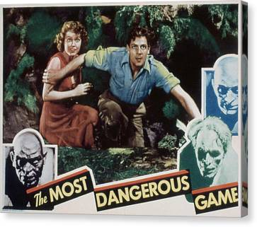 The Most Dangerous Game, Fay Wray, Joel Canvas Print by Everett