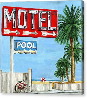 The Motel Sign Canvas Print by Debbie Brown