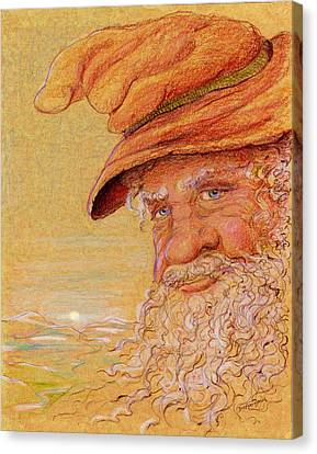 Canvas Print featuring the drawing The Mountain Wizard by Dee Davis