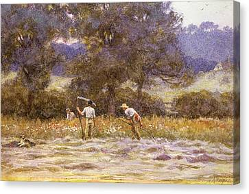 The Mowers  Canvas Print by Helen Allingham