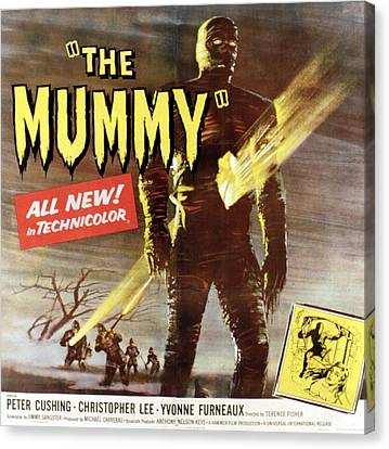 The Mummy, Christopher Lee, 1959 Canvas Print