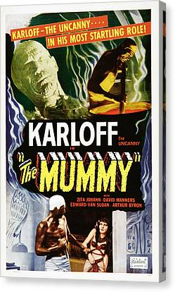 The Mummy, Top Left Boris Karloff Top Canvas Print by Everett