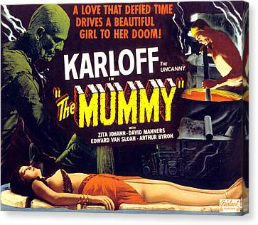 The Mummy, Upper Left Boris Karloff Canvas Print