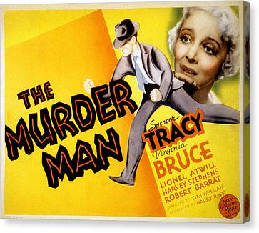 The Murder Man, Spencer Tracy, Virginia Canvas Print by Everett