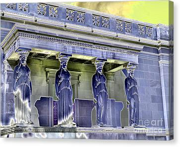 Caryatids Canvas Print - The Museum Supporters by David Bearden