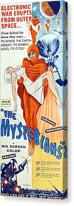 The Mysterians, Insert Poster Art, 1957 Canvas Print by Everett