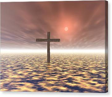 Computer Graphics Canvas Print - The Mystery Of The Cross by Paul Sale Vern Hoffman