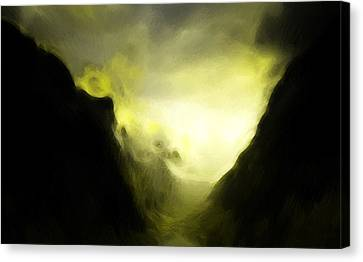 The Mystic Mountain Canvas Print by Steve K