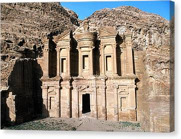 The Nabateian Temple Of Al Deir Canvas Print by Martin Gray