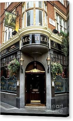 The Nags Head Pub Canvas Print by Anne Gordon