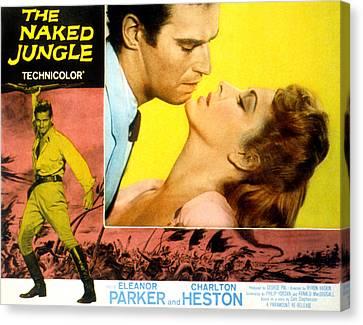 Fid Canvas Print - The Naked Jungle, Charlton Heston by Everett