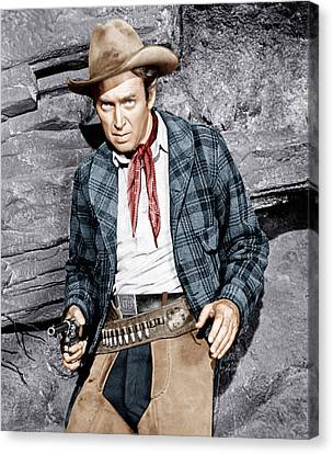 The Naked Spur, James Stewart, 1953 Canvas Print by Everett