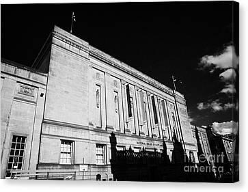 The National Library Of Scotland Edinburgh Scotland Uk United Kingdom Canvas Print by Joe Fox