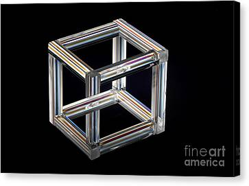 The Necker Cube Canvas Print by Raul Gonzalez Perez