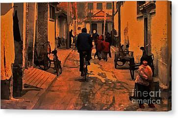 Canvas Print featuring the photograph The Neighborhood by Lydia Holly