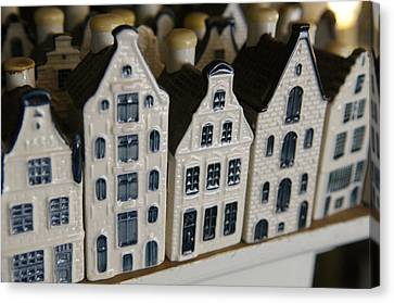 The Netherlands, Amsterdam, Model Houses Canvas Print by Keenpress