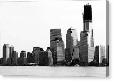 Canvas Print featuring the photograph The New Skyline  by Raymond Earley