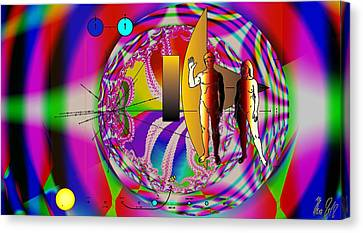The New View Of Science Canvas Print by Helmut Rottler