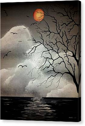 The Night Of The Blood Red Moon Canvas Print by Edwin Alverio