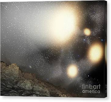 Merging Canvas Print - The Night Sky As Seen by Stocktrek Images