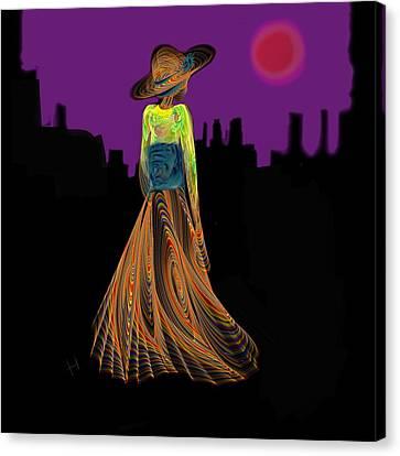 The Night With Kimono Canvas Print by Hayrettin Karaerkek