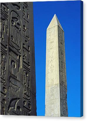 The Obelisk Of Hatshepsut With Detail Canvas Print by Axiom Photographic
