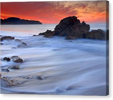 The Ocean Silk Canvas Print