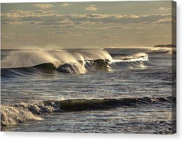 The Ocean Winds Canvas Print by Steve Gravano